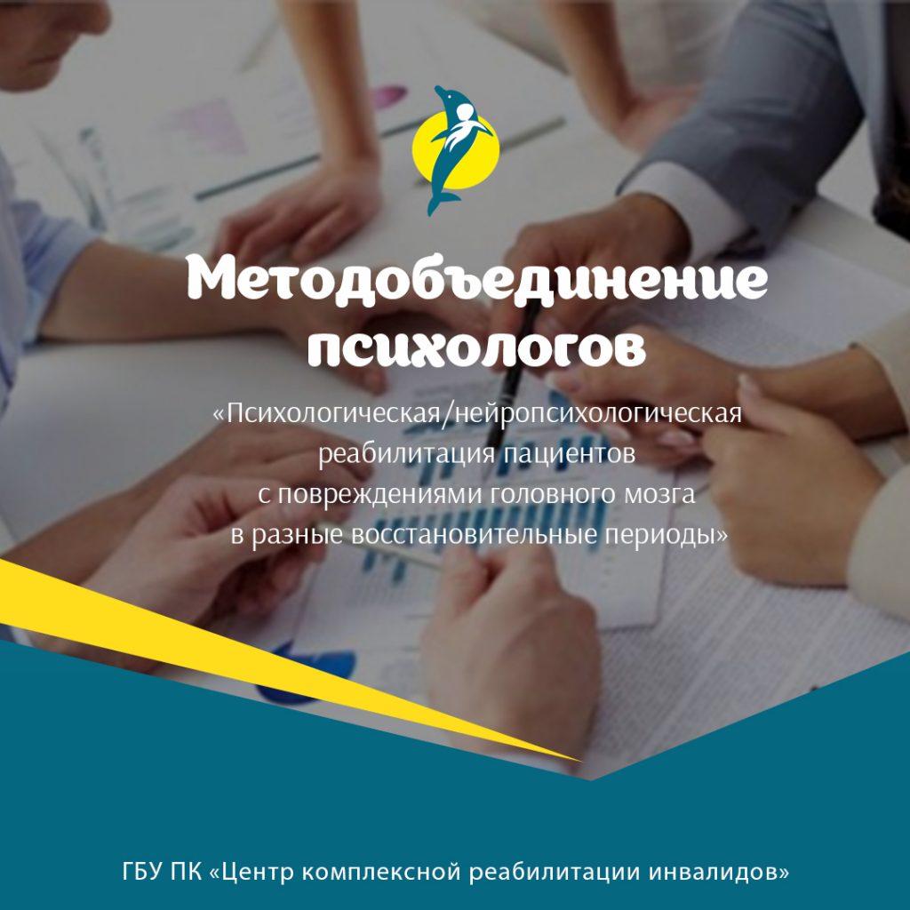 Методобъединение психологов Центра комплексной реабилитации инвалидов, г. Пермь